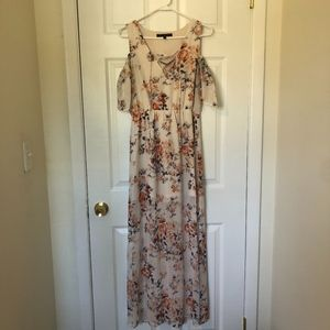 One Clothing Floral Maxi Sheer Dress Size M
